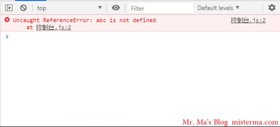 Chrome开发者工具控制台报错
