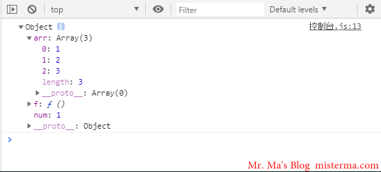 Chrome开发者工具控制台输出obj
