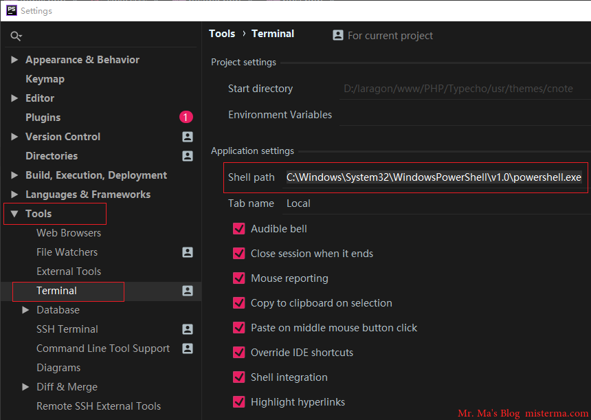JetBrainsIDE设置终端为PowerShell