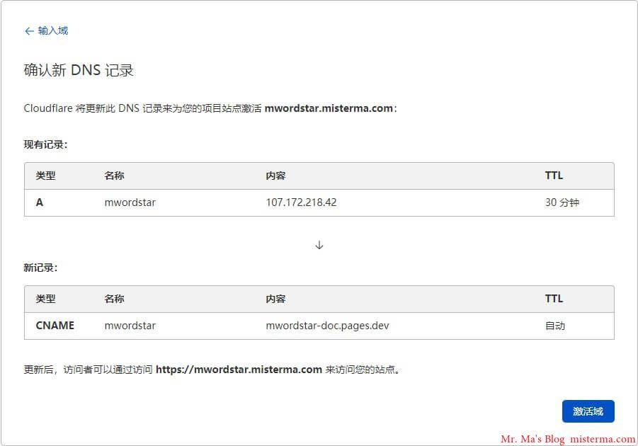 Cloudflare Pages设置域名CNAME